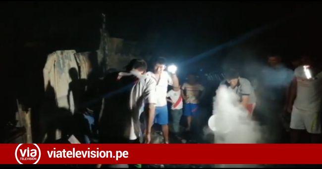Entregan ayuda a familia damnificada de incendio en sector Las  Pampas de Morales