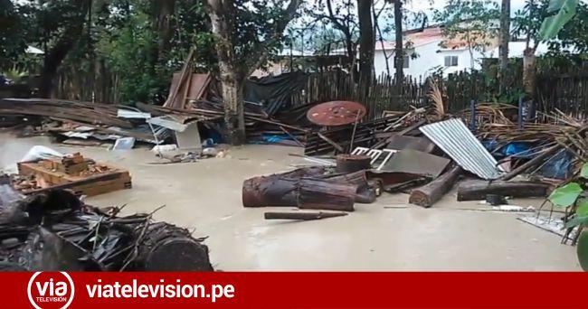 Sauce: desborde de quebradas inunda varias viviendas
