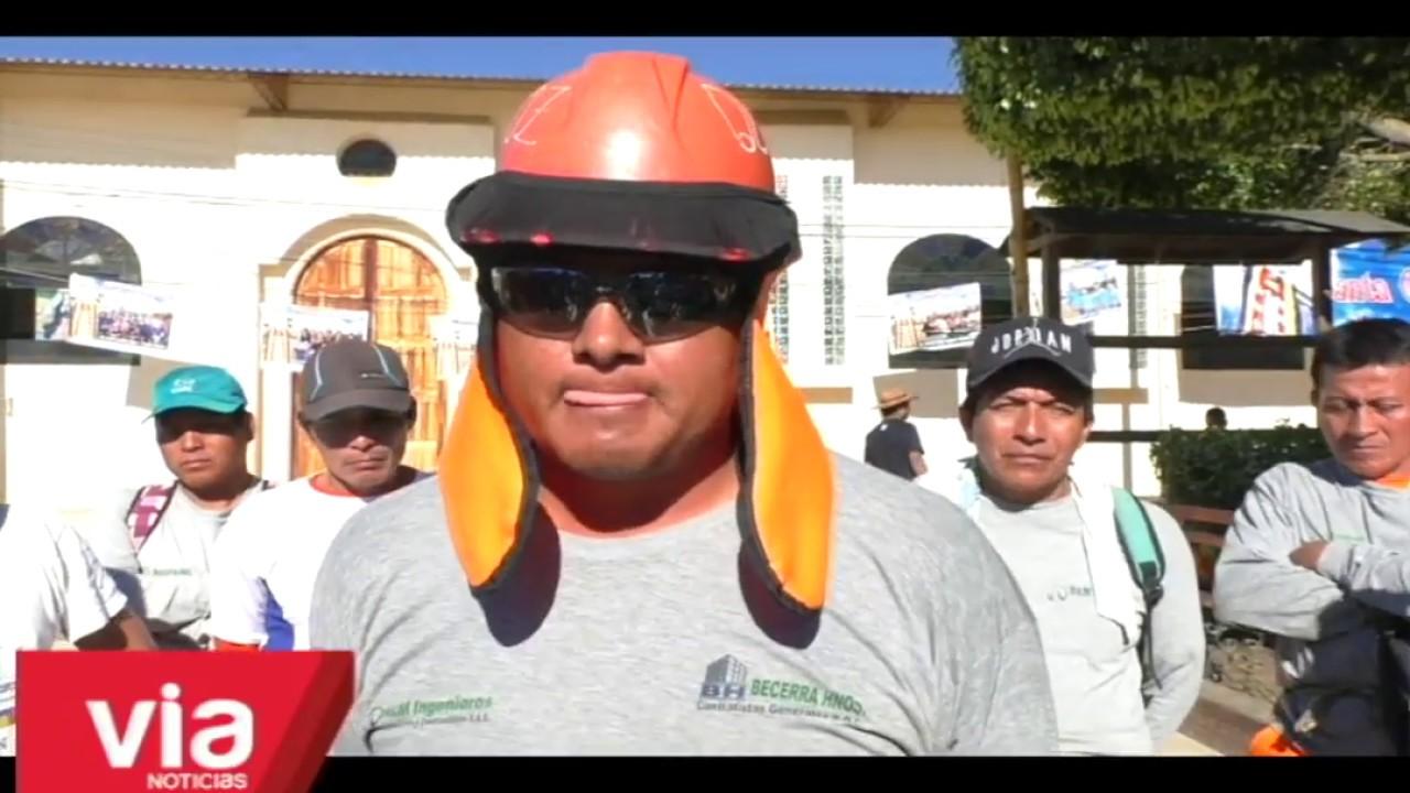 Lamas: paralizan obra de plan COPESCO por falta de pago