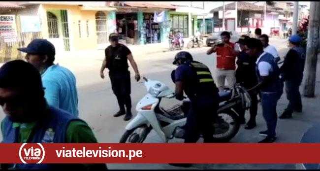 Motocicletas estacionadas en veredas son internadas en depósito municipal