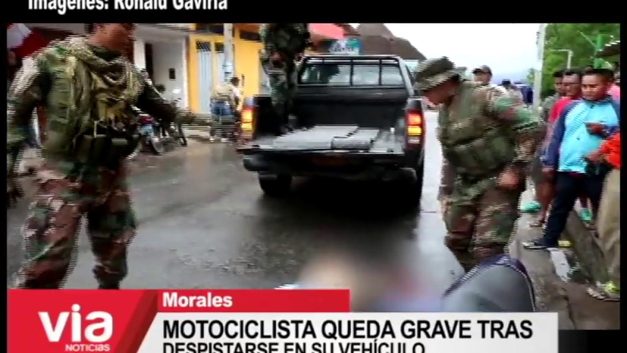 Motociclista queda grave tras despistarse en su vehículo.