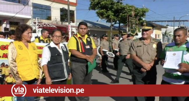 Morales: mototaxistas se unen a la policía nacional para la lucha contra la delincuencia