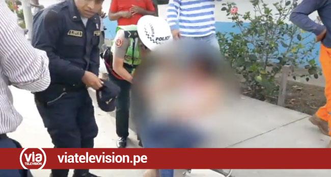Tarapoto: despiste de motocicleta deja una persona herida