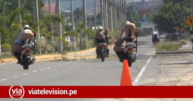 Tarapoto: PNP restringe calle para practicar acrobacia para el desfile patrio