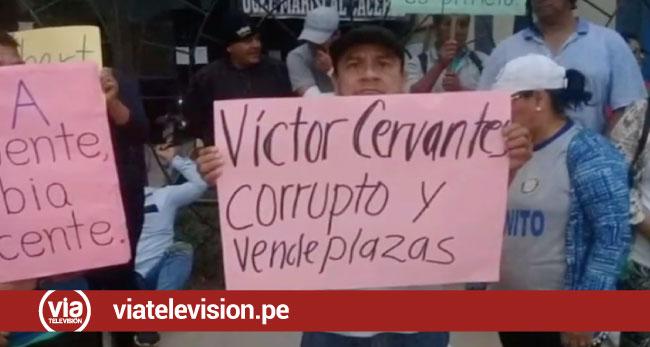 Profesores levantan protestas en Juanjui