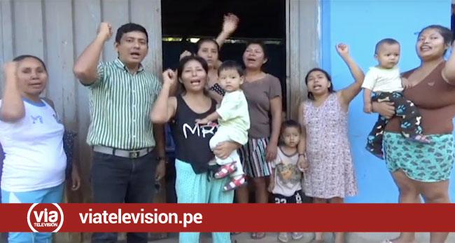 Padres de familia de la I.E.I. 1222 protestan por contaminación de agua