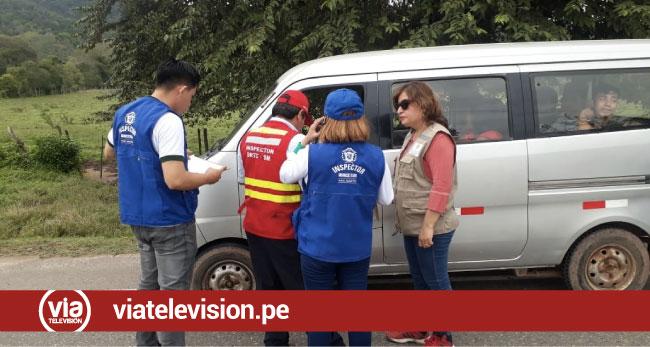 Ejecutan operativos preventivos en carretera Fernando Belaúnde Terry