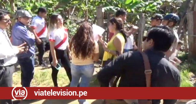 Tarapoto: inspección de terreno en el achual termina en una trifulca