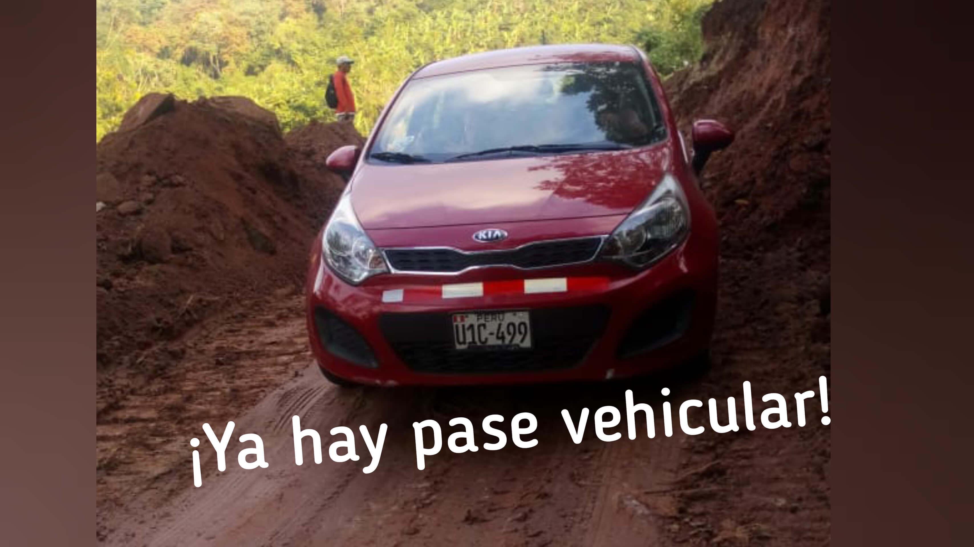 Se restableció el pase vehicular en la vía Cuñumbuque – Sisa.