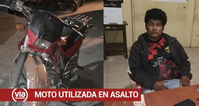 Tarapoto: ubican motocicleta que emplearon para asalto y robo de 30 mil soles