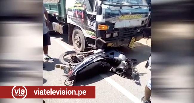 Accidente de tránsito deja una persona herida en La Banda de Shilcayo