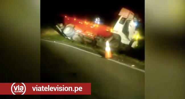 Maceda: cisterna se despista al parecer por cansancio de conductor