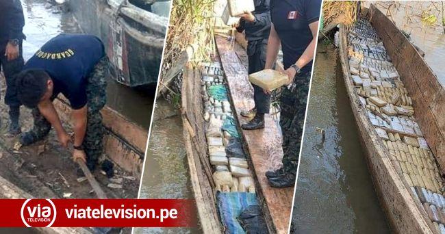 Loreto: Marina de Guerra incauta gran cantidad de droga camuflada en peque peque
