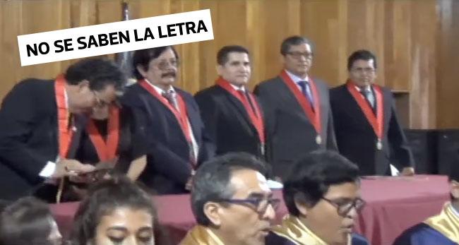 Trabajadores y Magistrados del Poder Judicial no saben la letra de su himno