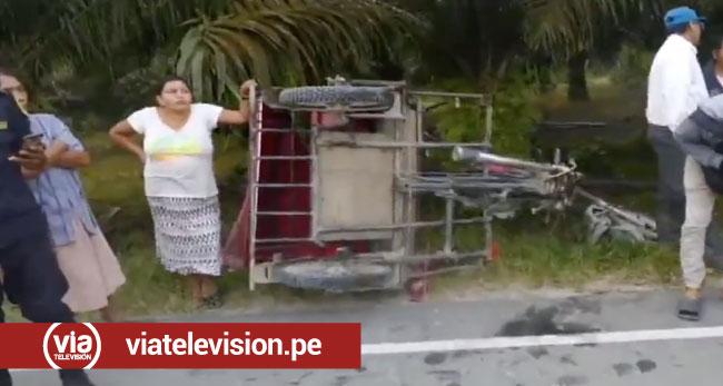 Esposos mueren en trágico accidente en la carretera a Uchiza