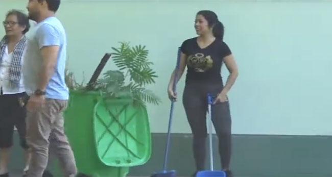 """Realizan jornada de limpieza  denominada """"Deja pindayo tú institución"""""""