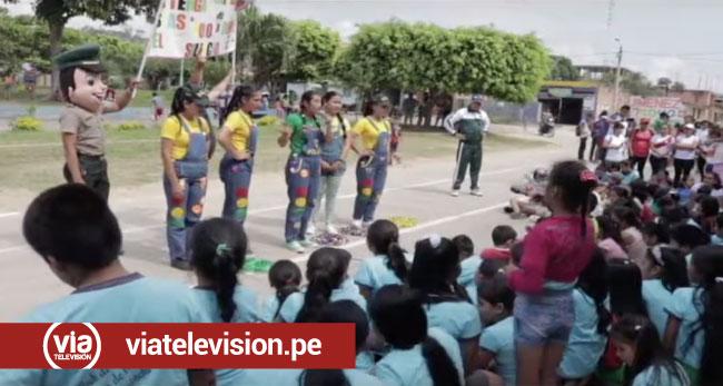 Cacatachi: juramentan Club de menores de la Policía Nacional