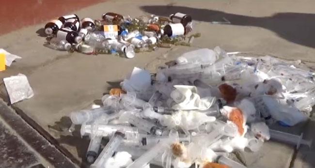 Ubican negocio que arrojaba  residuos hospitalarios en La Banda de Shilcayo