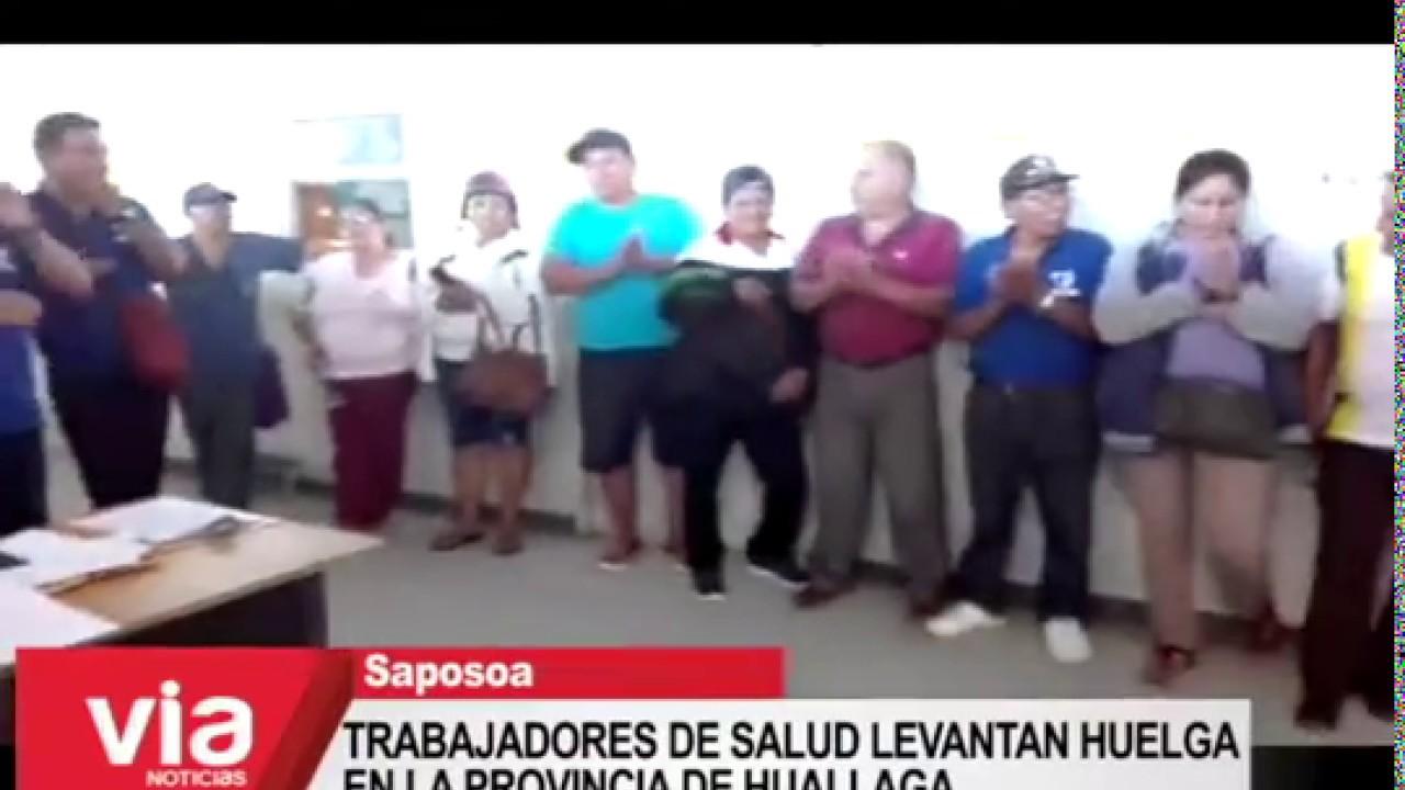 Trabajadores de salud de la provincia de Huallaga levantan huelga indefinida