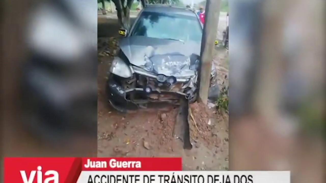 Accidente de tránsito en Juan Guerra deja dos personas heridas
