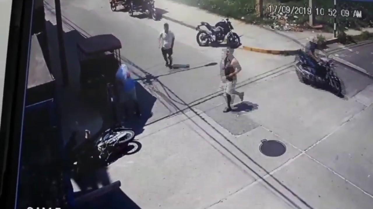 Tarapoto: conductora de moto resulta grave tras chocar contra camión