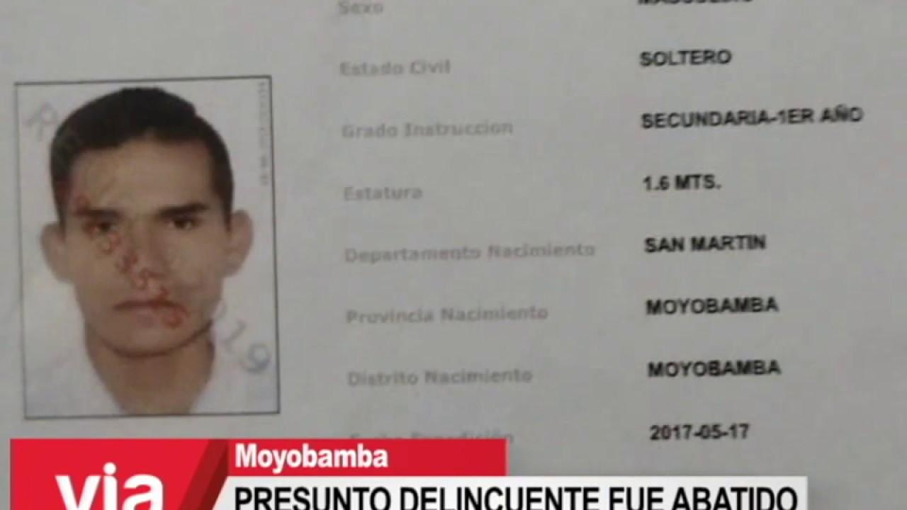 Presunto delincuente fue abatido durante enfrentamiento con policías
