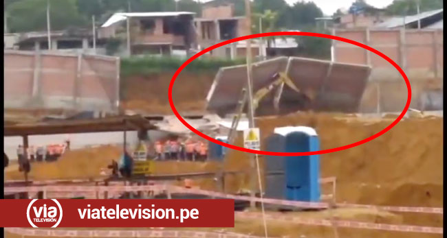 Tarapoto: parte del cerco perimétrico de escuela de policías se desploma
