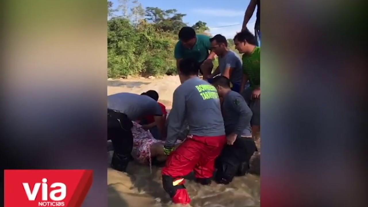 Rescatan cadáver de joven que se ahogó en el Cumbaza en Morales