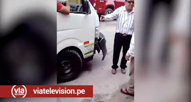 Tarapoto: imprudencia de conductor  ocasiona accidente de tránsito