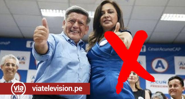 César Acuña expulsó de sus filas políticas a la excongresista Marisol Espinoza
