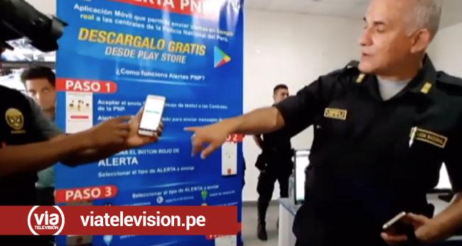 Tarapoto: presentan aplicación alerta PNP para reportar emergencias
