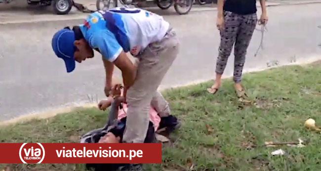 Tarapoto: joven con alteraciones mentales altera el orden público