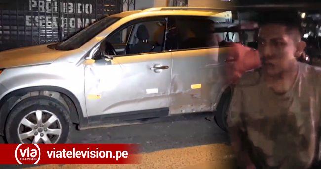 Mototaxista al parecer ebrio ocasiona accidente de tránsito en Tarapoto