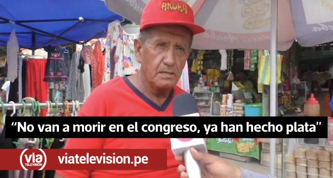 Tarapoto: ciudadanos muestran su rechazo hacía ex congresistas
