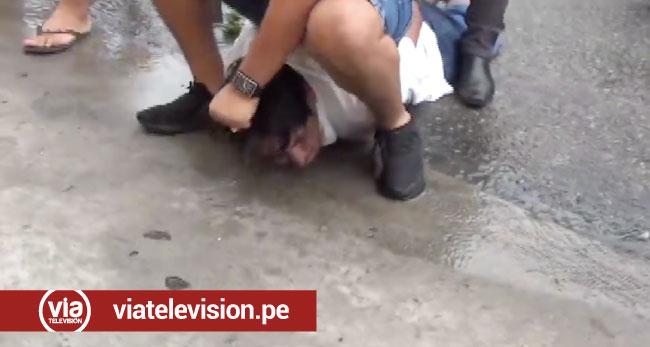 En tiempo record  efectivos policiales intervienen a presunto asaltante de botica