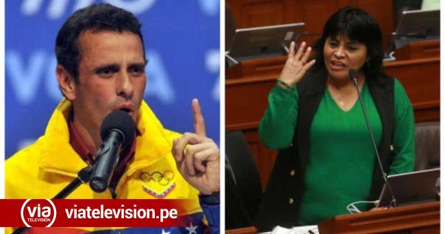 Venezolano Henrique Capriles criticó a Esther Saavedra por mensaje xenófobo