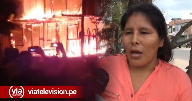 Damnificada de incendio de Chazuta necesita apoyo solidario
