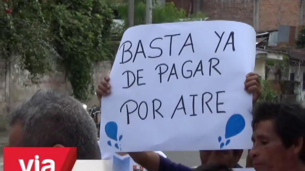 Pobladores de San Martín de Cumbaza protestan exigiendo agua potable