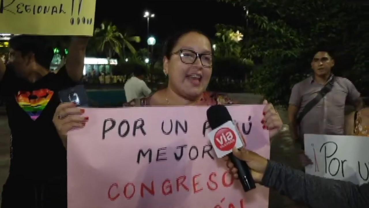 Tarapotinos respaldan disolución del Congreso de la República