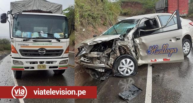 Picota: choque de auto y vehículo pesado deja dos personas heridas