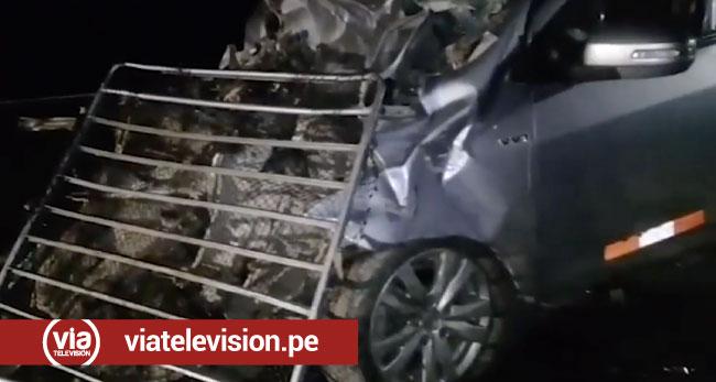 Picota: 5 heridos tras choque de auto y camión fuso