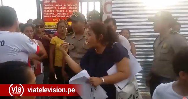 Tarapoto: funcionaria municipal enfrentada con vendedores ambulantes
