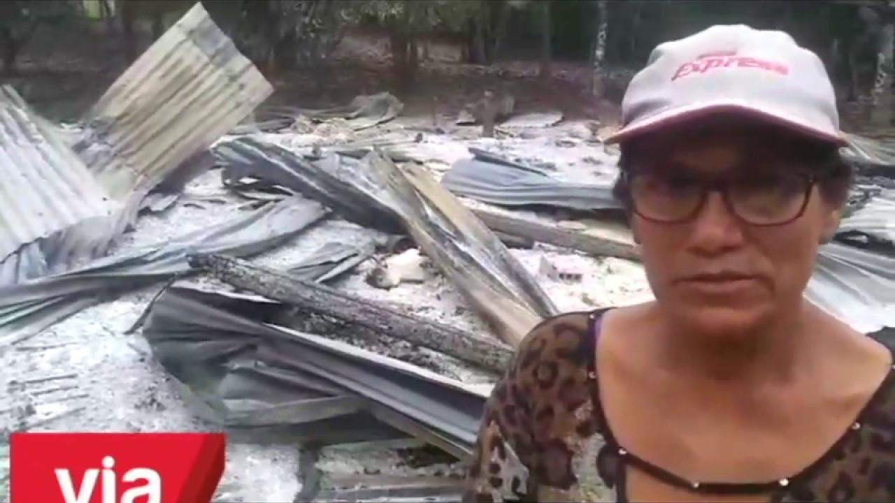 Incendio reduce a cenizas y escombros una vivienda en la provincia de Bellavista