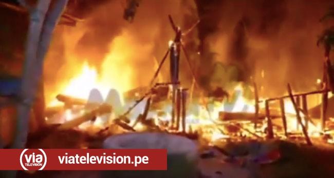 Tocache: familia se queda en la calle tras incendiarse su vivienda