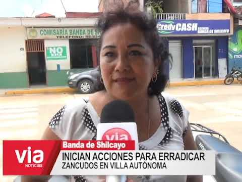 Inician acciones para erradicar zancudos en Villa Autónoma