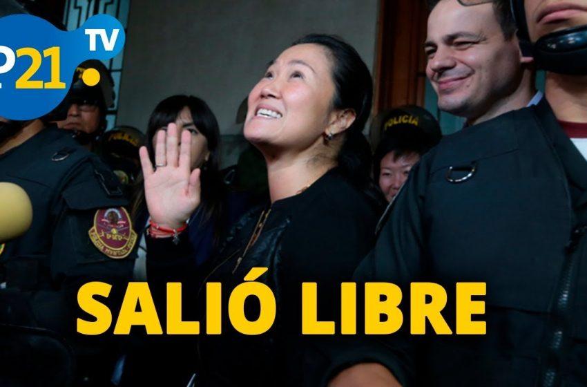 Keiko Fujimori abandona penal de 13 meses por decisión del TC.