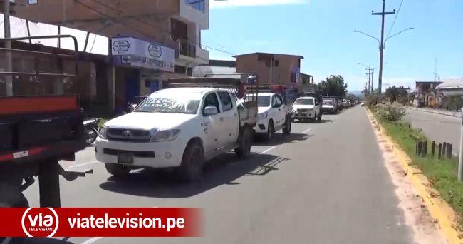 Transportistas que cubre ruta interprovincial acatan paro de 24 horas
