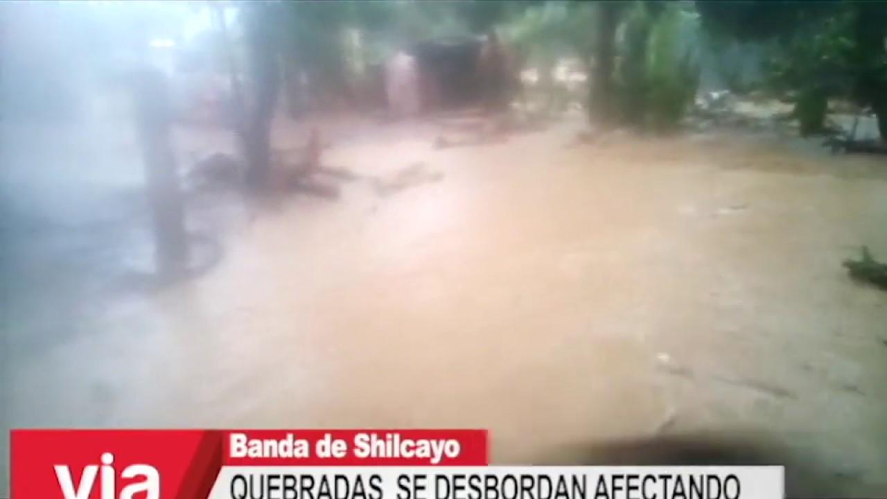 Quebradas de La Banda de Shilcayo se desbordaron afectando varias viviendas