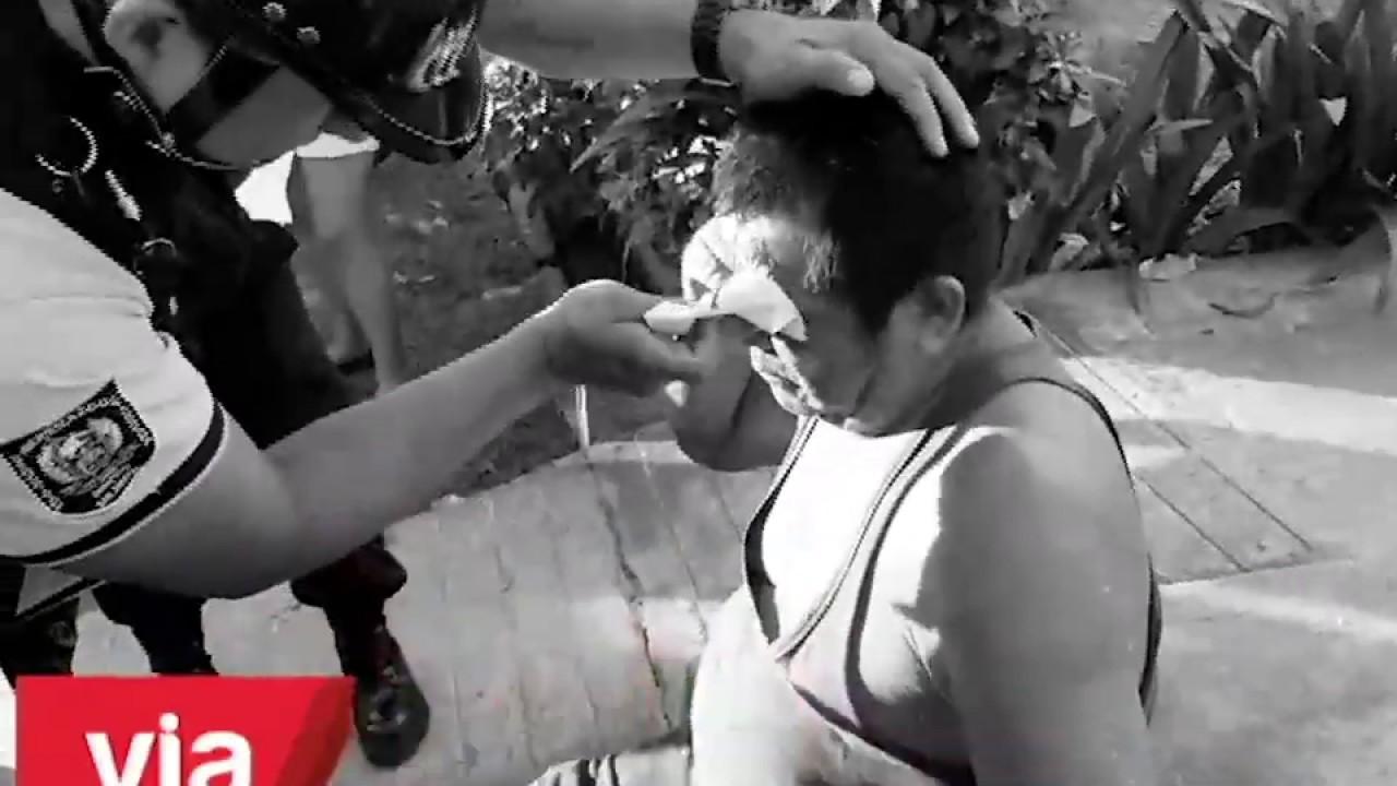 Tarapoto: mototaxi atropella a peatón en urbanización 9 de Abril