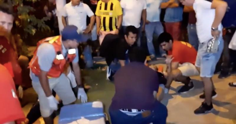 Morales: choque de motos deja dos personas heridas en FONAVI